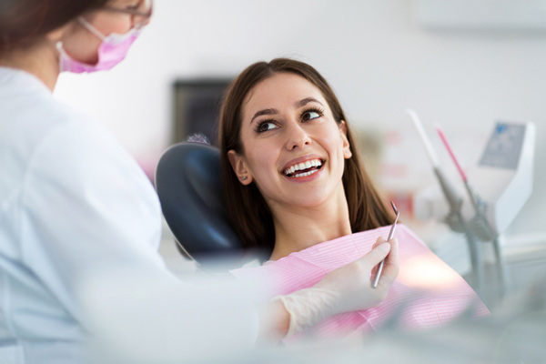 Female patient of Bruce Gopin, DDS, MS in a dental chair located in El Paso, TX